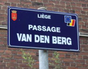 Panneau rue passage VDB